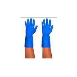 Guante reulizable nitrilo azul
